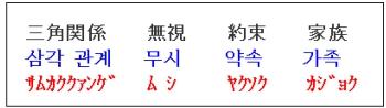 日本語と似ている韓国語