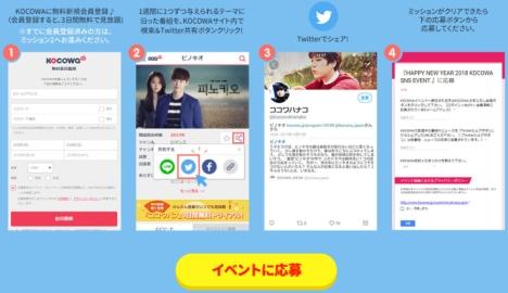 まだ間に合う!人気韓流動画配信サイトKOCOWAでSNSサプライズキャンペーン開催中!
