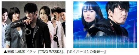 GYAO!「韓国ドラマリメイク特集」にイ・ジュンギ「TWO WEEKS」、チャン・ヒョク「ボイス」登場!