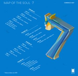 BTS、ニューアルバム「MAP OF THE SOUL : 7」1/17先行配信!カムバック・マップ公開