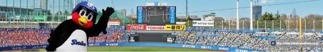 プロ野球ファンに笑顔と元気を贈るため、ヤクルトの「つば九郎」が立ちあがる!