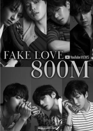 通算3本目大記録|BTS「FAKE LOVE」ミュージックビデオ、8億再生突破!!<br/>