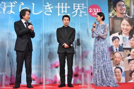 映画『すばらしき世界』プレミアイベントで仲野太賀と長澤まさみが役所広司に突撃質問!