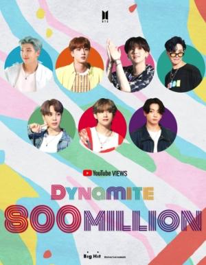 BTS(防弾少年団)「Dynamite」ミュージックビデオ、8億ビュー突破!通算6回目の8億ビューMV!
