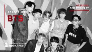 BTS、「2021グラミー賞」週間開催オンラインチャリティ公演「Music On A Mission」に出演!