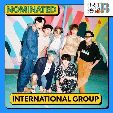 韓国歌手初!BTS、英国最高権威「ブリット・アワード」で「インターナショナルグループ」部門にノミネート!