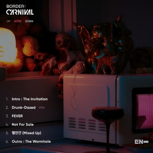 ENHYPEN、 新アルバム「BORDER : CARNIVAL」トラックリスト公開…タイトル曲は「Drunk-Dazed」