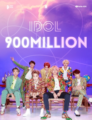 BTS(防弾少年団)「IDOL」MVが9億再生突破…通算6回目の9億ビューMV!
