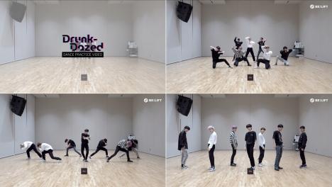 7人のメンバーの足音までも、完璧に一致!ENHYPEN「Drunk-Dazed」ダンス映像公開!
