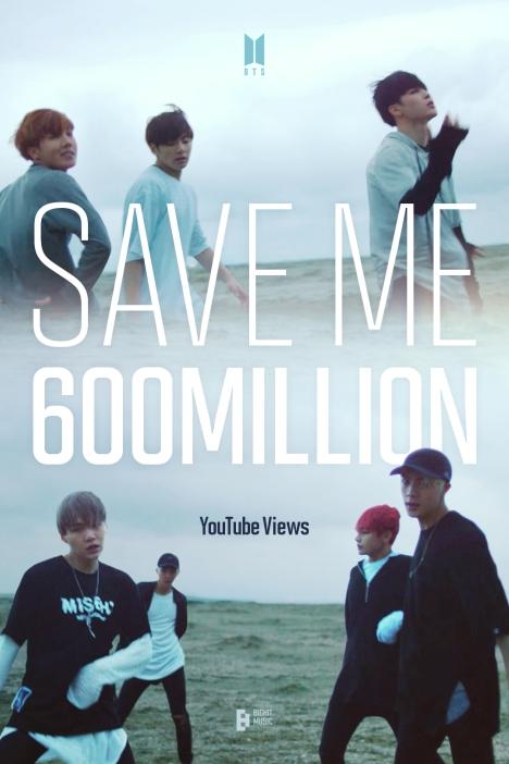 BTS(防弾少年団)「Save ME」MVが6億再生突破!通算10個目の6億ビューMV保有!