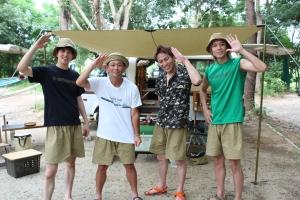 おぎやはぎ、木梨憲武にキャンプ作法を指南!ココリコ遠藤、狩野英孝、ボイメン水野、吉原らも駆けつけ大盛り上がり