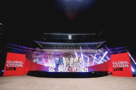 BTS、「2021 Global Citizen LIVE」OPを「Permission to Dance」と韓国の美しさと一緒に飾った!